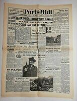 N633 La Une Du Journal Paris-midi 9 décembre 1941 église Saint-Paul, Gervais