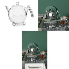 Bredemeijer 1.5 L Stainless Steel Teapot Bella Ronde with Chromium Fittings, Sil