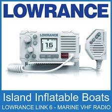 Lowrance Link 6 VHF Marine Boat DSC Radio White Waterproof 25 Watts Postage
