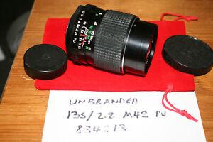 Unknown Brand 135mm f/2.8 Manual Focus Lens M42 Praktica/Zenit Screw - FUNGUS