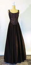 Jenny Packham Chocolate Brown Metallic 2 Pc. Bodice/Floor Length Gown, Size 8