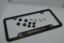 Porsche License Plate Frame Aluminum Matte Black Plate Frame Macan Cayenne
