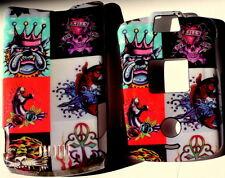 Motorola V3 V3c v3m Razr phone Razor Black Faceplate Cover case hard snap on