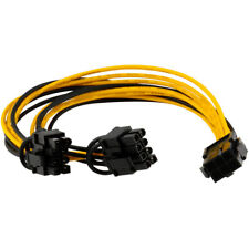 PCI-E PCI 6-pin to Dual 8Pin/2x(6 2pin) Graphics Card Power Splitter Cable 20cm