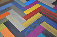 """DIY CARPET TILE - 36"""" x 9"""" ASSORTED COLORS & PATTERNS - FREE SHIPPING!!! 45 SF"""
