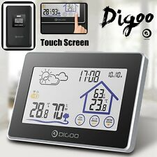 Digoo Touch Screen Wireless Temperature Humidity Weather Station CLock Sensor