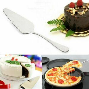 Premium Stainless Steel Silver Wedding Cake Shovel, Baking Pizza Cutter Server