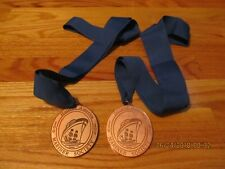 LOT OF TWO (2) HOLLAND AMERICA MARINER SOCIETY 100TH CRUISE MEDALS W/RIBBONS