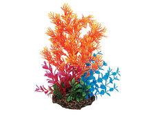 Ventosa montaje Planta Con Base De Roca Ornamento del acuario peces tanque decoración