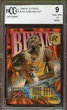1996-97 Z-Force #142 Kobe Bryant Rookie Card BGS BCCG 9 Near Mint+