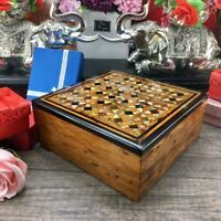 Christmas gift Square Shaped jewelry box, thuya wooden organizer from Morocco
