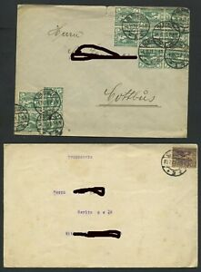 Oberschlesien 2 Briefe GLEIWITZ - COTTBUS, GLEIWITZ - BERLIN #h670