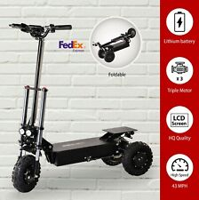 Electric Scooter Off Road Triple Motor 3*1200W 60V Foldable 3 Wheel 70kmh 43 Mph
