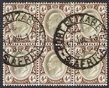 1910-13 Transvaal used in Cape Province block 4d SG Z159 VFU Port Elizabeth CDS