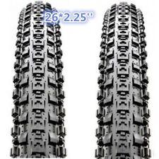 "1 PAIR(2PCS) Maxxis Crossmark MTB Tyres 26 x 2.25""Black Mountain Bike Tire 65PSI"