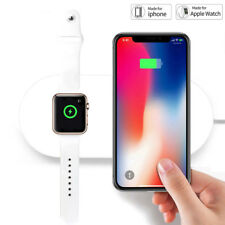 2 In 1 Qi Wireless Charger Fast Charging Pad Holder For Apple Watch iPhone 7/8 X
