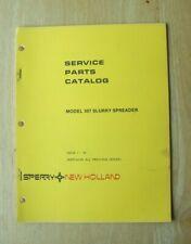 New Holland Model 307 Slurry Spreader Service Parts Catalog Manual