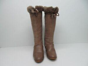 Vtg Richard Draper Real Sheepskin Wedge Boots Womens 7.5 Made in England