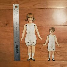Vintage Articulated Paper Dolls - Brother and Sister
