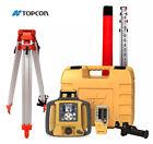Topcon RL-SV2S Dual Slope Rotary Laser Level, Alkaline Battery, Tripod 16' Rod