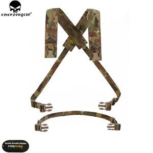 EMERSON Tactical D3CRM Chest Rig X-harness kit Molle Shoulder Straps Suspender