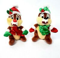 Disney Chip & Dale Winter Plush Christmas Stuffed Toy Doll 7""