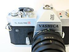 Excellent Yashica TL Electro X 35mm SLR Camera w/ Yashica 90-190 Zoom Telephoto