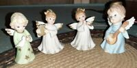 4 Vintage Figurines Lefton Angel Lot
