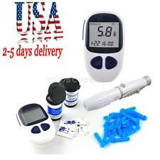 US Blood Glucose Starter Kit Glucometer Sugar Meter Monitor Diabetes Free strips
