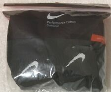 Nike 6-Pair Men's Performance Cotton Quarter Crew Socks Large 8-12  Black - 1555