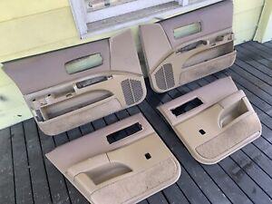 1991 1992 1993 1994 1995 1996 Chevy Caprice Tan Front & Rear Door Panels 9C1