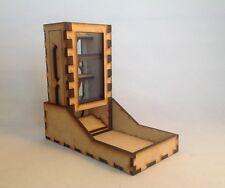 Custom Mini Dice Tower v3 Neon Blue Acrylic Window Laser Cut MDF Fast Shipping