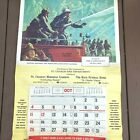 Vtg 1970 Firefighter Calendar NFPA St Charles MO 29x43 Always Ready Griffith PS