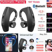 TWS True Wireless Bluetooth Earphones Stereo Earbuds Ear Hook Headset Headphones