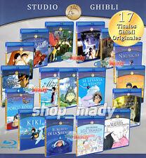 Paquete Studio Ghibli -17 Peliculas en Blu-Ray ESPAÑOL LATINO Nuevas y Genuinas