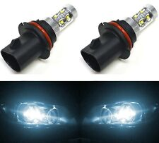 LED 50W 9007 HB5 White 6000K Two Bulbs Head Light Replace Lamp Use JDM Fit