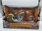 Orange County Choppers 1:6 Replica Motorcycle Die Cast Iron Legends Green Silver