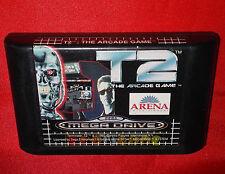 T2 THE ARCADE GAME Terminator Sega Mega Drive Europeo PAL ○ SOLO CARTUCCIA DH