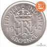 1937 - 1952 BRITISH LUCKY SIXPENCE GEORGE VI TANNER WEDDING GIFT CHOOSE YEAR