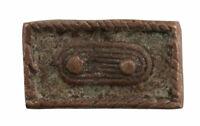 Pesi Ashanti Akan Per Weigh Oro 20g Bronzo Arte Africano Figura Geometrica 628