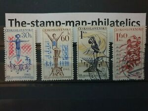 Czechoslovakia  - 1965 - The 3rd National Spartacist Games - 4 stamps  - Used