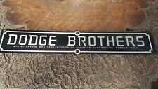 Dodge Brothers Hood plates set of 2 acid etched aluminum 1920s - 1936