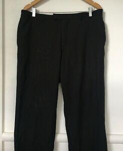 Studio Italia Pants Size 116 Mens 100% Wool Dress Work Black Trousers