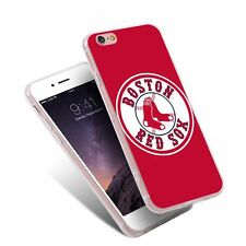 The Red Sox TPU Painting Pattern Phone Case Back Cover for iPhone Samsung Huawei