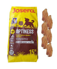 15kg Josera Emotion Optiness Hundefutter +  6 x Kaninchenohren