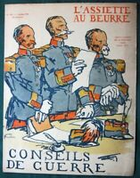 """L'Assiette au Beurre #275 """"Conseils de Guerre"""" 1906 French Anti-Military Satire"""