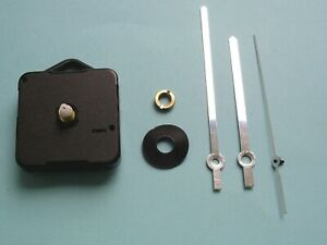 Quartz Clock movement kit for 8 to 12mm thick dials 100mm SILVER baton hand sets