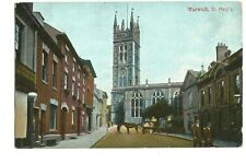 Vintage Postcard St Mary's Church Warwick posted 1911  (E7)