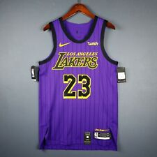 100% Authentic Lebron James Nike City Edition Lakers jersey Size 44 M Mens d2197fefa