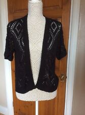 Ladies Black Crochet Shrug size M by Originals NWT